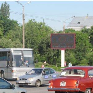 Экран в районе Сельмашевского рынка г.Гомель
