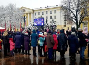 Экран на Центральной площади г.Борисов