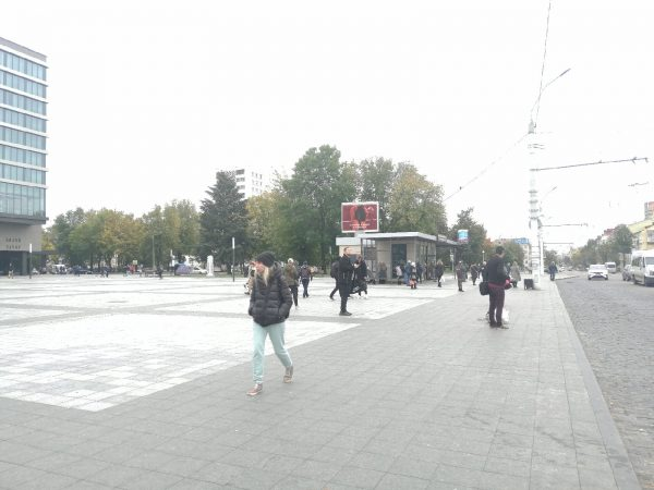 Экран около ТЦ «Атриум» Могилев
