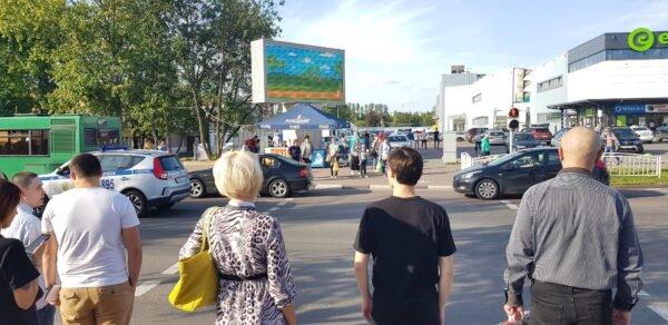 Экран около ТЦ «Евроопт» г.Витебск